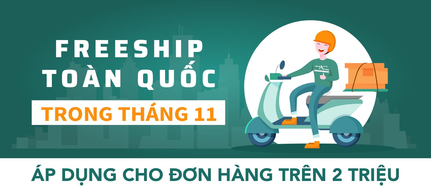 Freeship Việt Nam Tháng 11
