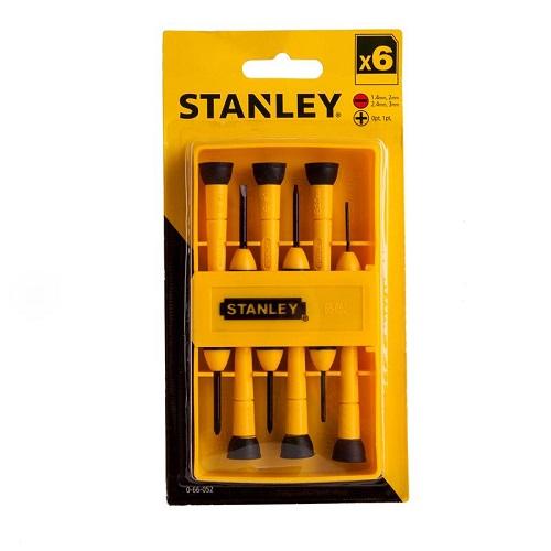 Bộ vít đồng hồ (điện tử), 6 cây, cán nhựa Stanley 66-052