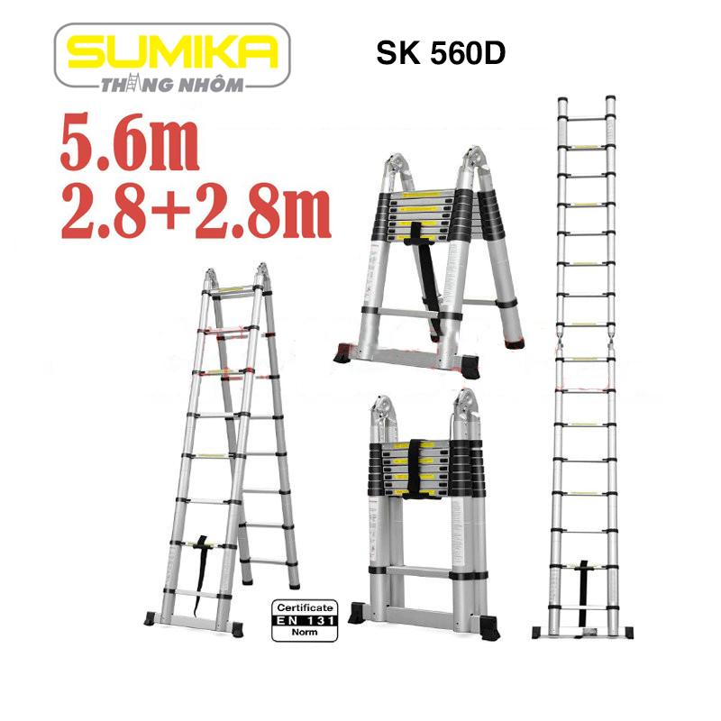 Thang rút nhôm đôi Sumika SK 560D