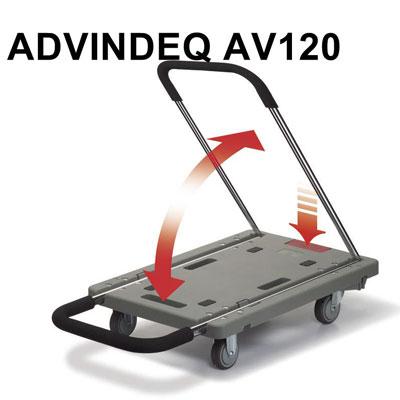 Xe đẩy hàng 4 bánh Advindeq AV120