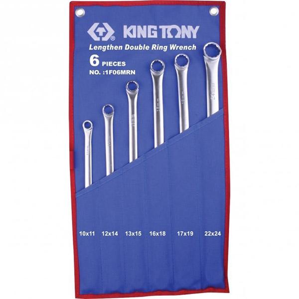 Bộ cờ lê 2 đầu vòng dài 6 chi tiết Kingtony 1F06MRN