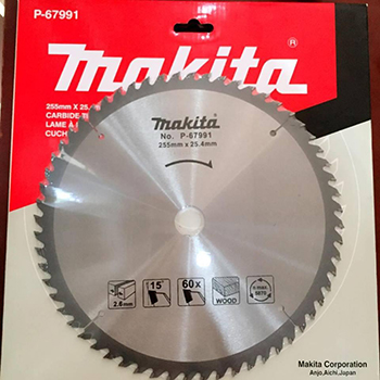 Lưỡi cắt gỗ Makita P-67991 255mm x 25.4mm