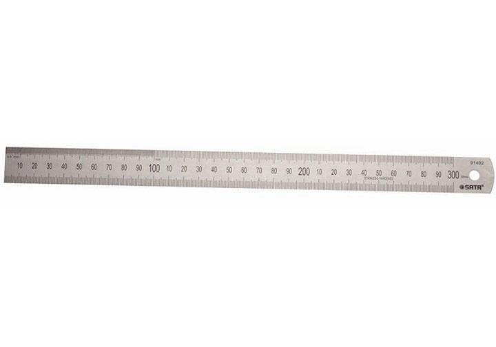 Thước lá thẳng 30cm Sata 91402