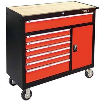 Tủ đồ nghề 8 ngăn có mặt trên bằng gỗ YATO YT-09141