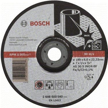 Đá mài Inox Bosch 2608600540 (180x6.0x22.2mm)