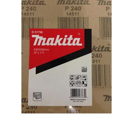 Giấy nhám gỗ P240 Makita D-51758