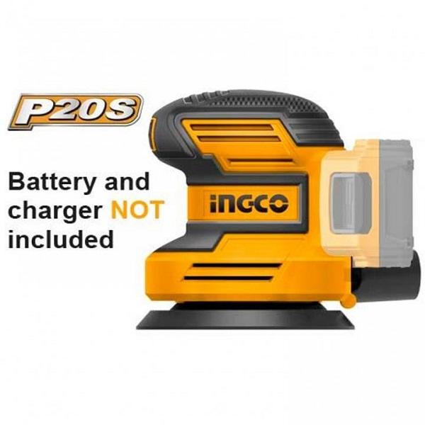 Máy chà nhám tròn dùng pin Lithium Ingco CROSLI2001 ( Chưa Pin & Sạc )