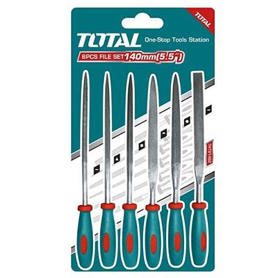 3x140mm Bộ giũa sắt 6 chi tiết Total THT91462