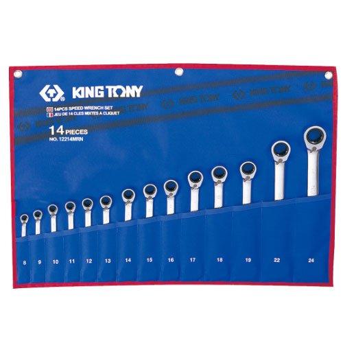 Bộ cờ lê vòng miệng 14 cái hệ mét Kingtony 12214MR 8-24mm