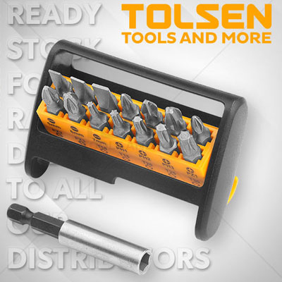 Bộ đầu vít 15 món Tolsen 20365