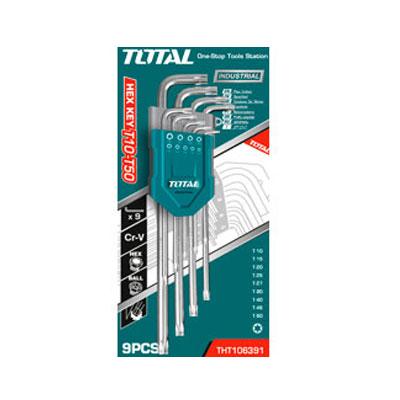 Bộ lục giác bông dài 9 chi tiết Total THT106391 T10-T50