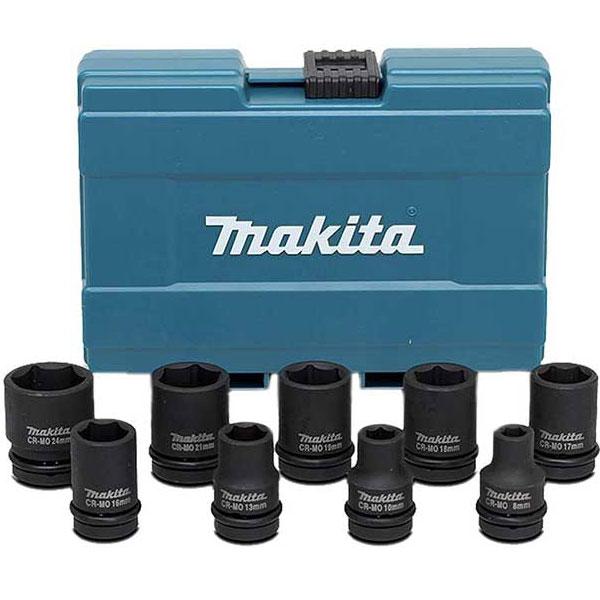 8-24mm Bộ đầu tuýp 1/2' 9 chi tiết Makita D-41517
