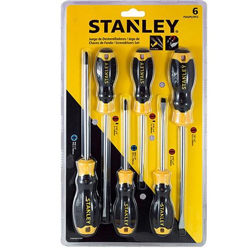 Bộ tuốc nơ vít dẹp và bake 6 cây Stanley STMT66672