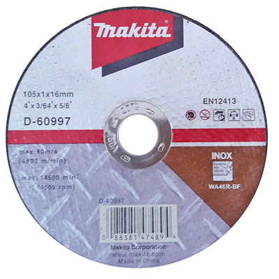 Đá cắt mỏng Makita D-60997 (105mm)