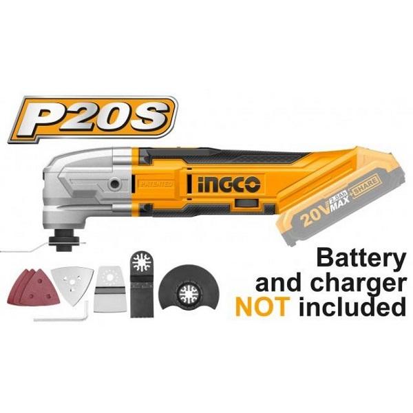 Máy cắt góc đa năng dùng pin Lithium-Ion Ingco CMLI2001 ( Chưa Pin & Sạc )