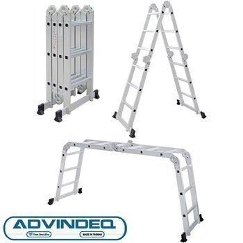 Thang nhôm gấp đa năng 4 đoạn Advindeq ADM103