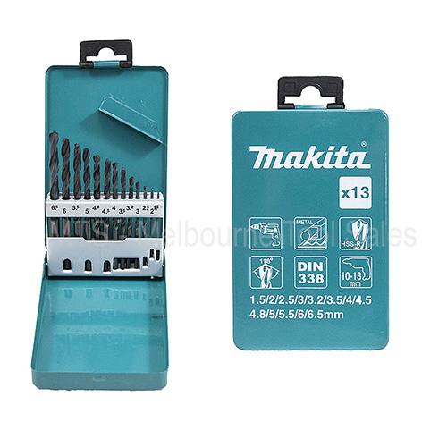 Bộ 13 mũi khoan sắt HSS-R  Makita D-54075