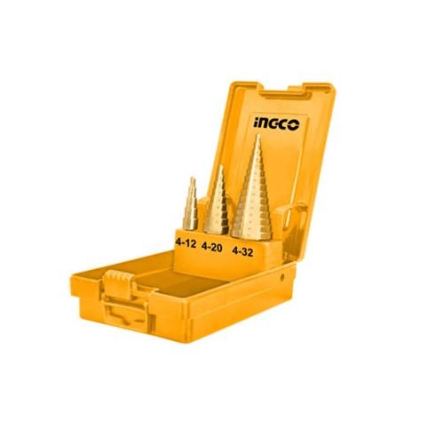 Bộ 3 mũi khoan chóp nón Ingco AKSDS0301