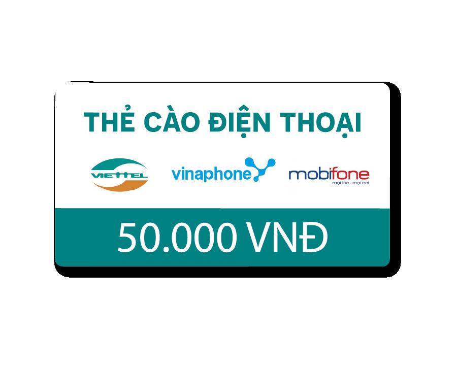 Thẻ Cào Điện Thoại 50.000 VNĐ - Quà Tặng Sinh Nhật