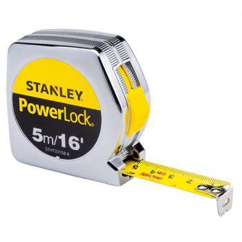 Thước cuộn thép Stanley STHT33158-8 Powerlock_16'/ 5m Plastic Case - 19mm