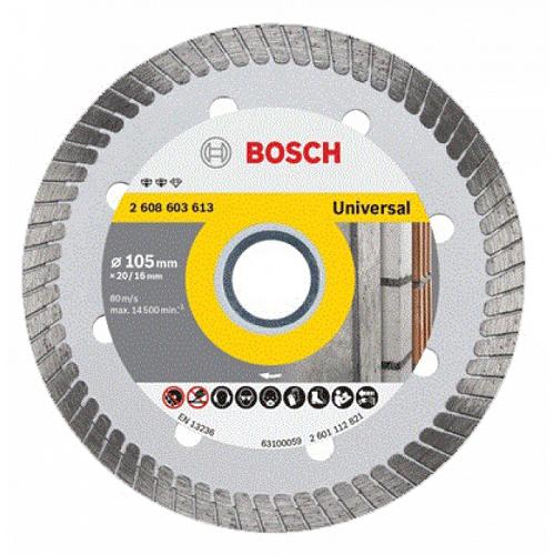 Đĩa cắt kim cương Turbo Bosch 105x16mm đa năng 2608603613