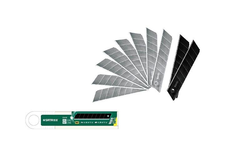 Lưỡi dao rọc thẳng thép 18mm Sata 93433A