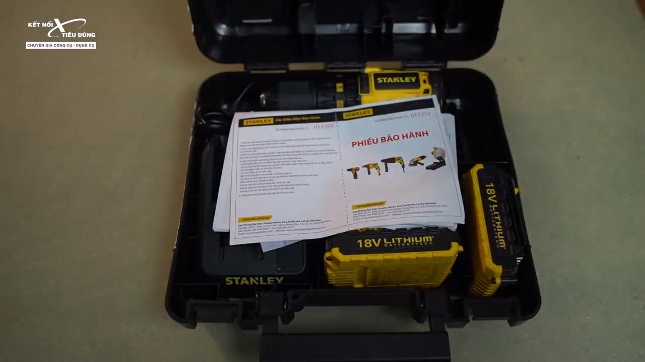 [Review] Máy Khoan Pin Stanley SBH201D2K & SBD201D2K - Hàng MỸ Có Khác - trọn bộ phụ kiện