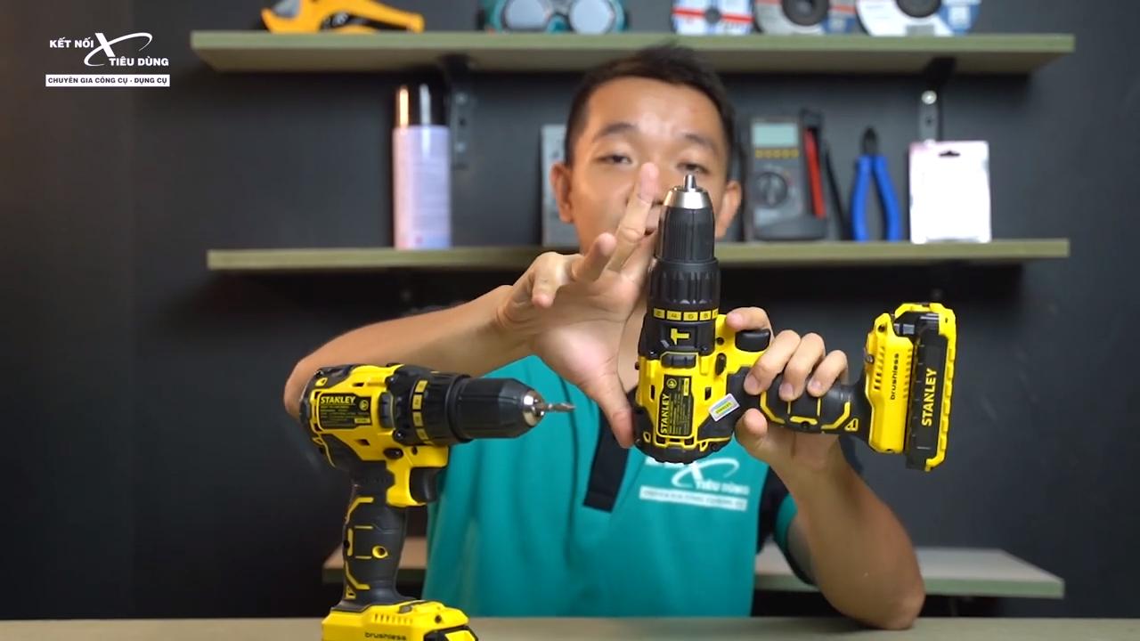 [Review] Máy Khoan Pin Stanley SBH201D2K & SBD201D2K - Hàng MỸ Có Khác - thiết kế nhỏ gọn, phối màu vàng đen đẹp mắt