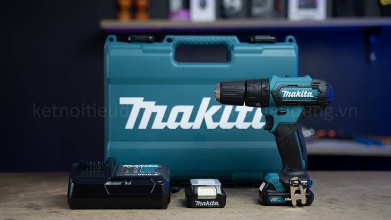Makita HP333DSAE là dòng máy khoan pin đa năng thực hiện được cả 3 chức năng: khoan búa, khoan thường và vặn vít