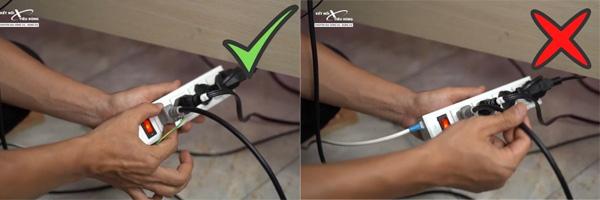 6 lưu ý an toàn khi sử dụng máy phay - anh em hãy cầm đúng vào chuôi phích cắm khi rút điện máy phay
