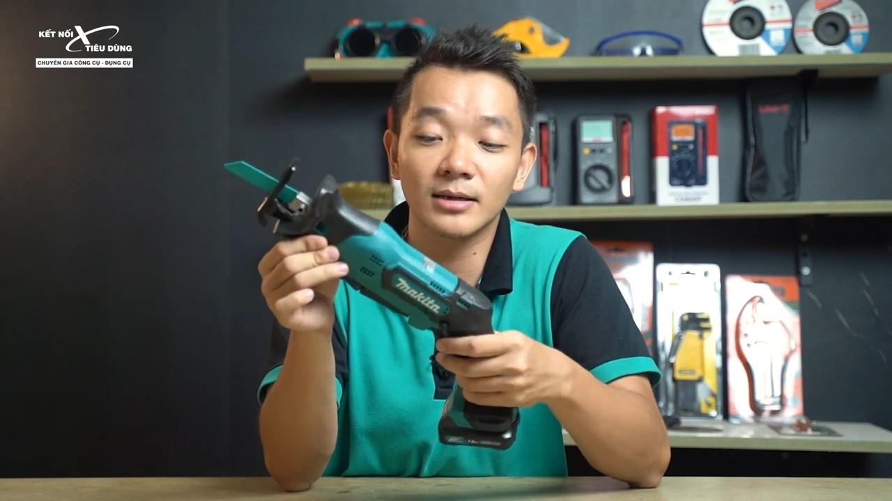 Máy cưa kiếm dùng pin Makita JR105DSYE có thiết kế  gọn nhẹ, cầm chắc tay