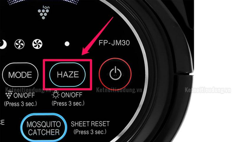 Chế độ Haze thích hợp sử dụng khi người dùng muốn lọc khí nhanh chóng và hiệu quả nhất
