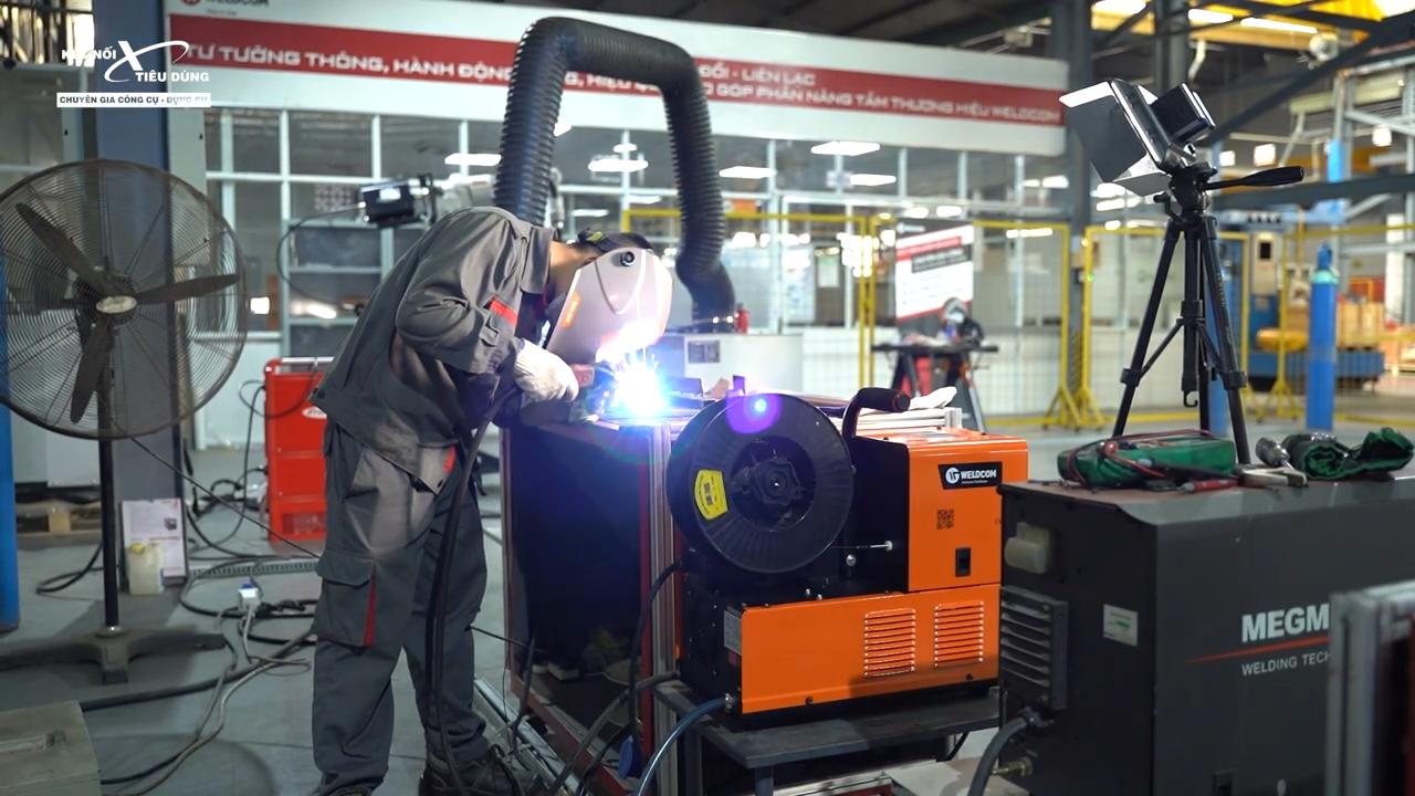 Con máy có tốc độ hàn nhanh gấp 2,5 lần so với những loại máy hàn Tig khác trên thị trường