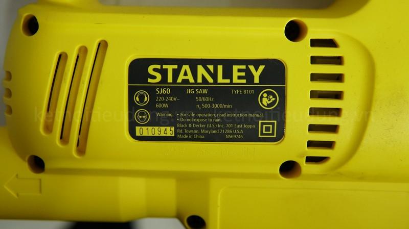 Máy cưa Stanley SJ60 sở hữu thông số kỹ thuật bấn tượng