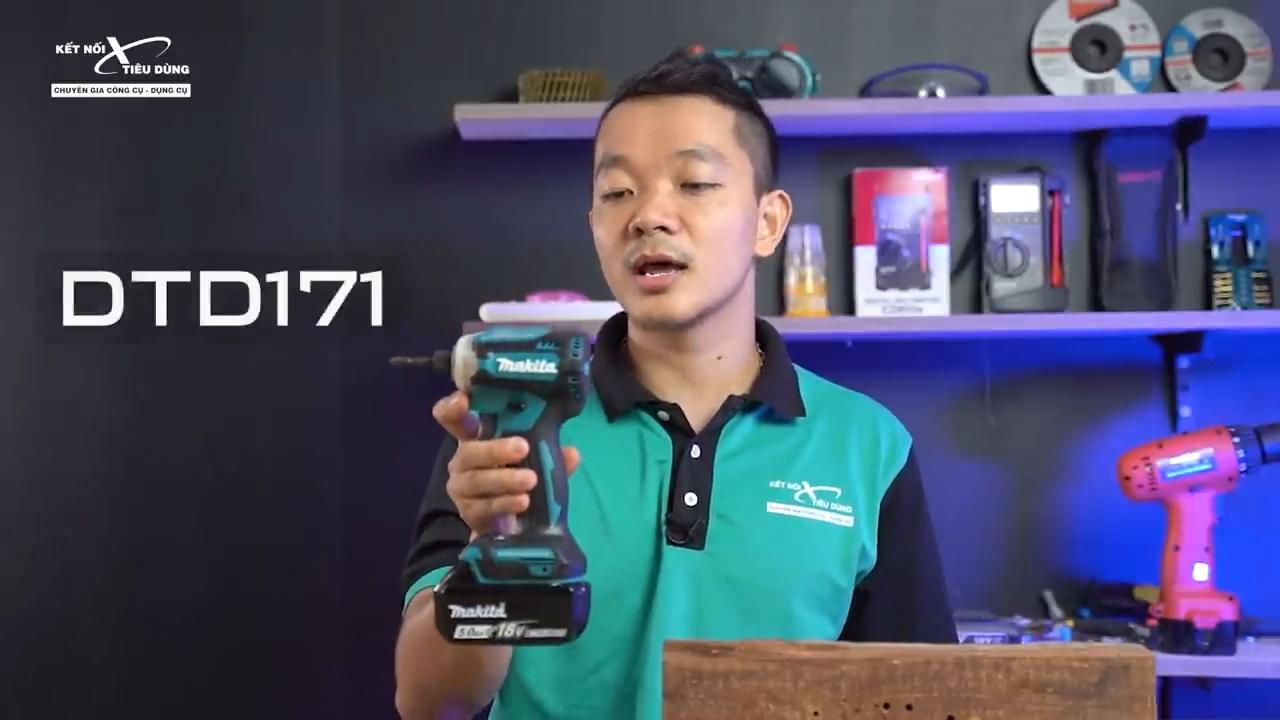 Makita DTD171 là dòng máy bắn vít dùng pin cao cấp của Makita phục vụ nhu cầu bắn, tháo vít chuyên nghiệp