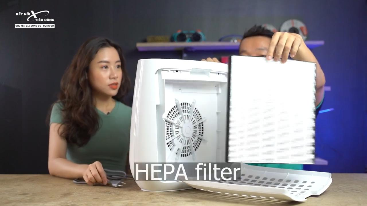 Màng lọc Hepa cao cấp giúp lọc sạch bụi mịn và tạp chất trong không khí