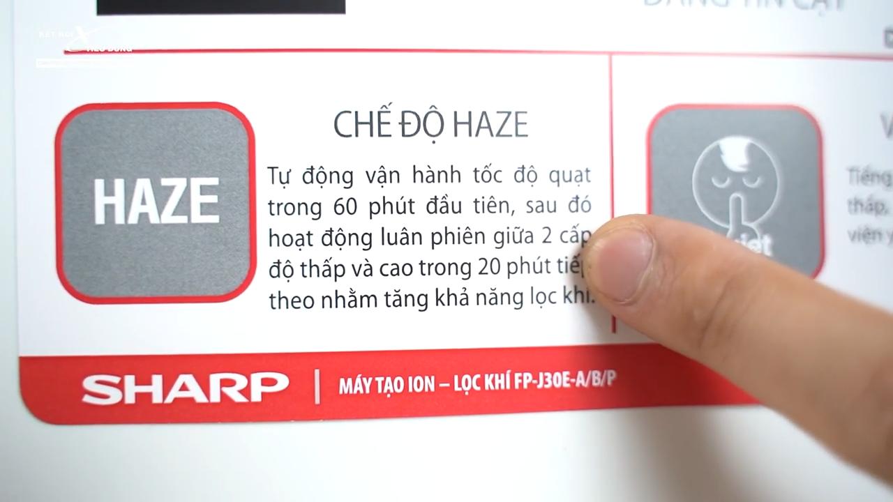 Máy đươc trang bị cơ chế Haze nhằm tăng khả năng lọc khí, lọc bụi bẩn và khử mùi hôi hiệu quả nhất