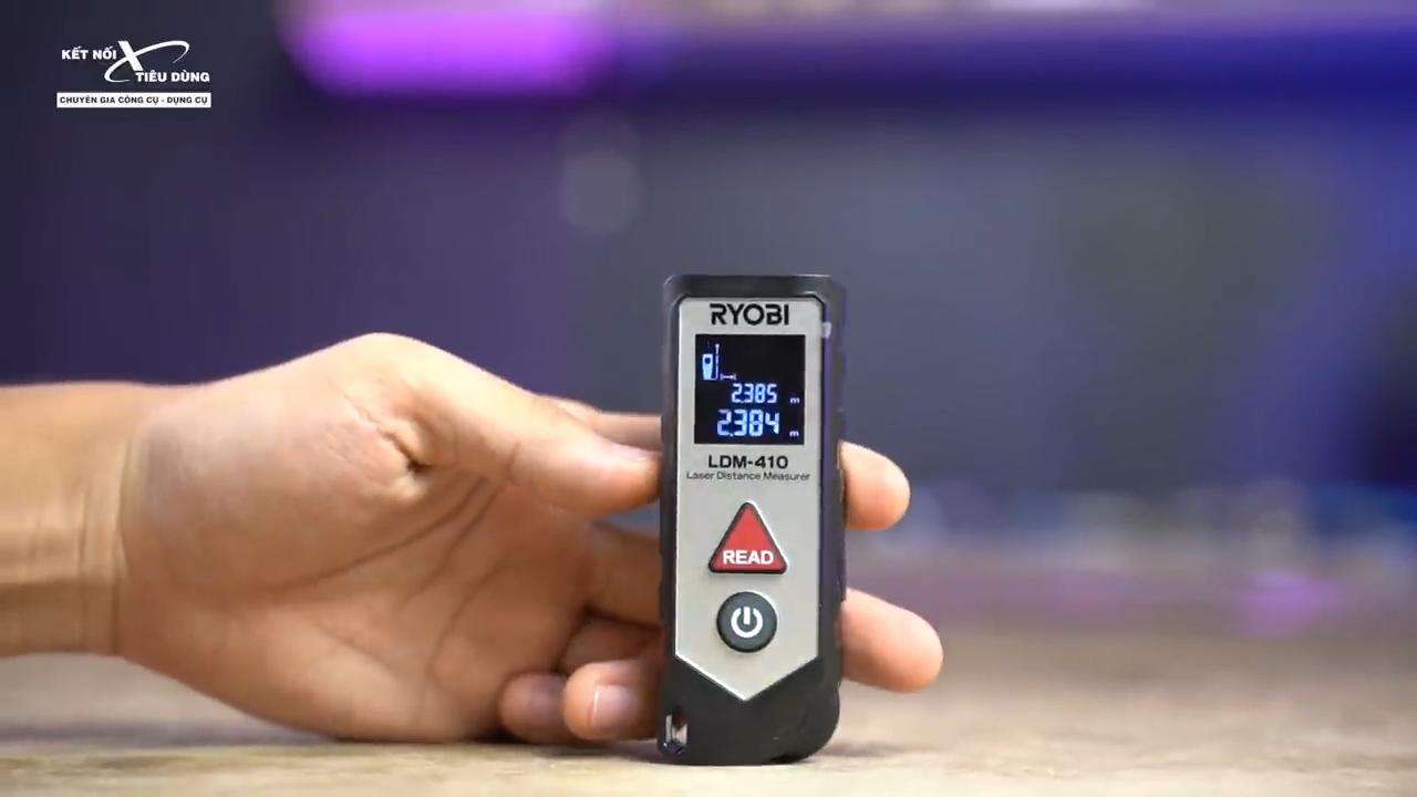 Máy đo khoảng cách Ryobi LDM - 410 - máy đo khoảng cách bằng laser cho độ chính xác cao trong thời gian vài giây, giúp công việc đạt hiệu quả cao