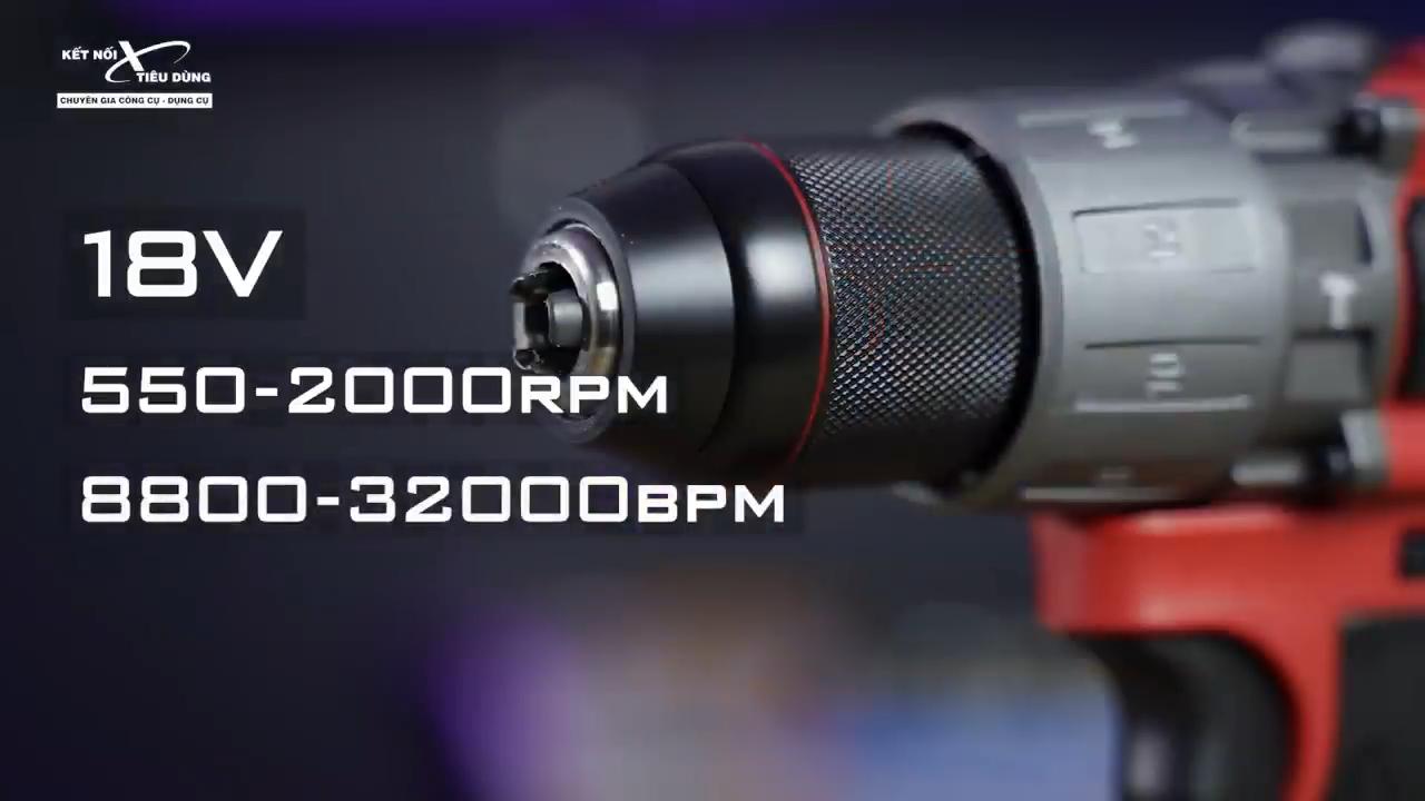 Milwaukee M18 FPD2 có thông số kỹ thuật cực kỳ ấn tượng với khối động cơ hoạt động mạnh mẽ