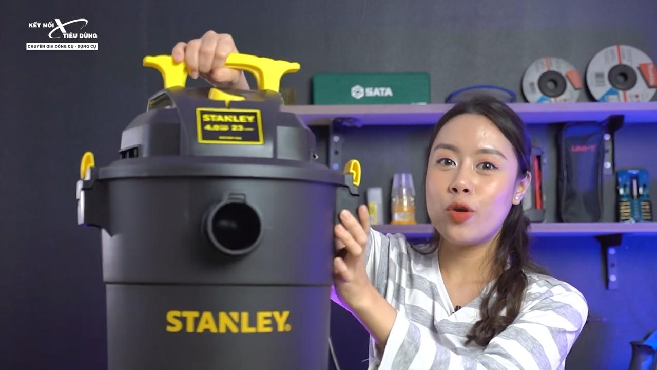 Máy hút bụi được thiết kế chắc chắn, tiện dụng nhằm giúp công việc vệ sinh được thuận lợi nhất
