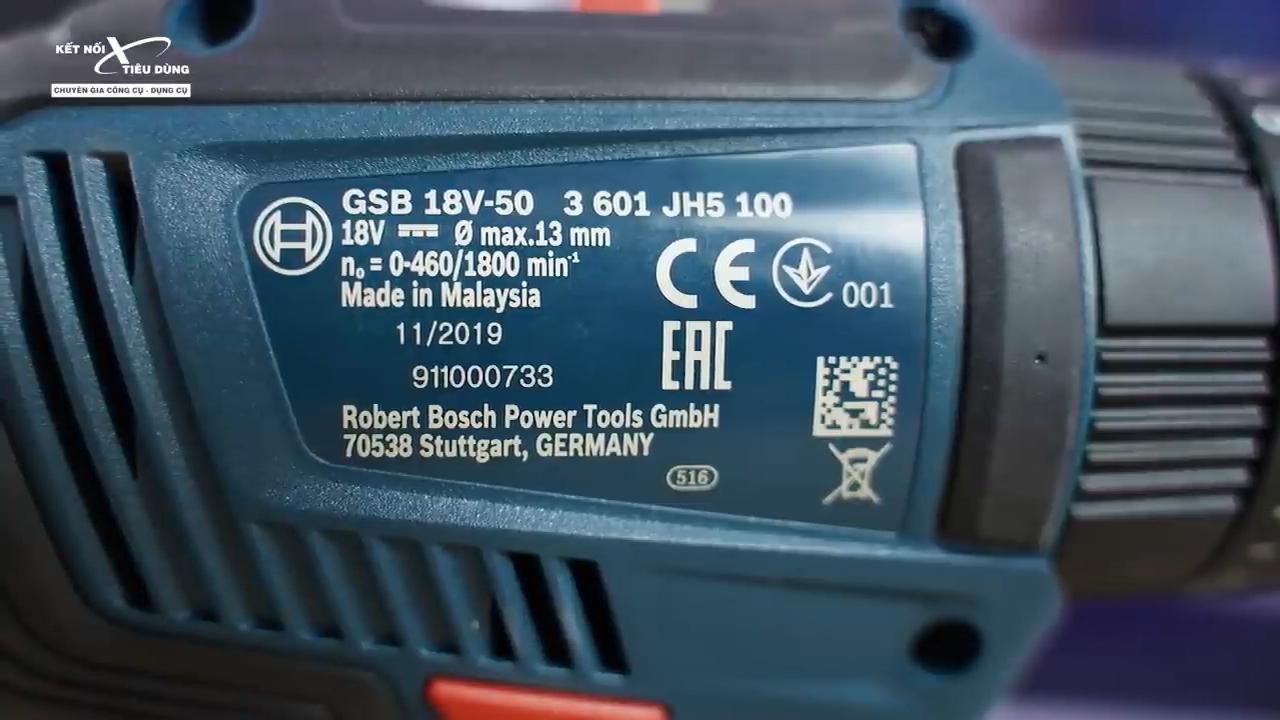 Máy khoan pin Bosch GSB 18V-50 đời mới có đáng để anh em xài thử - máy khoan trang bị công suất mạnh mẽ với tốc độ không tải ấn tượng nhằm phục vụ công việc khoan đục chuyên nghiệp