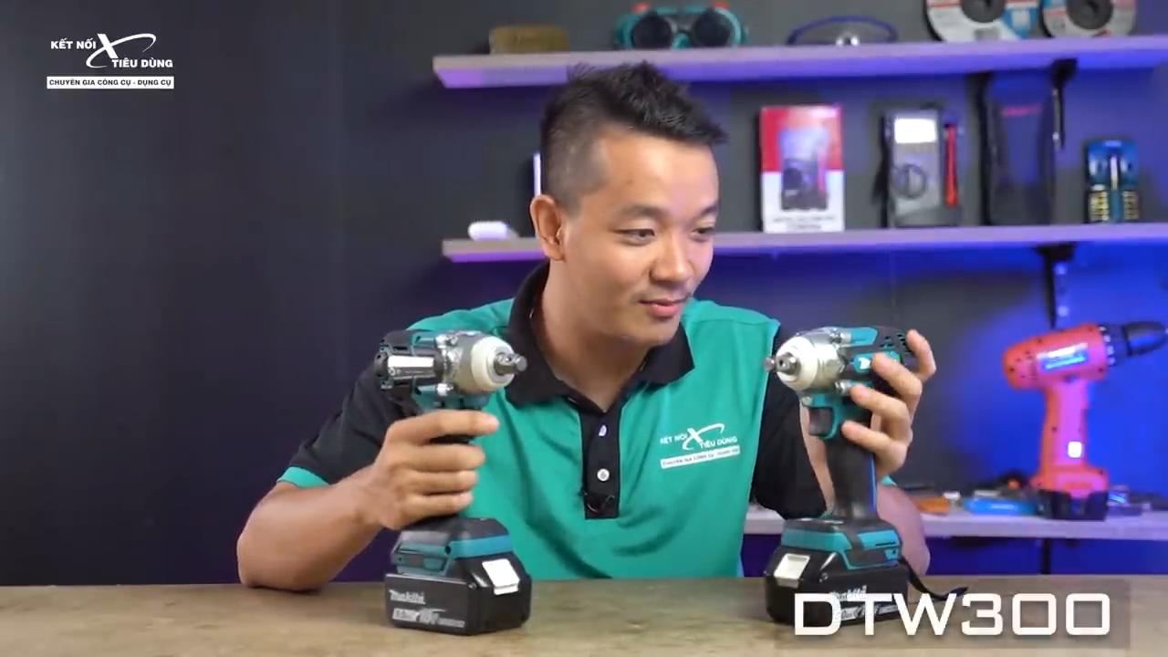 Máy vặn bu lông Makita DTW300 có thiết kế gọn nhẹ, công suất cao với 4 chế độ giúp tối ưu hiệu quả công việc
