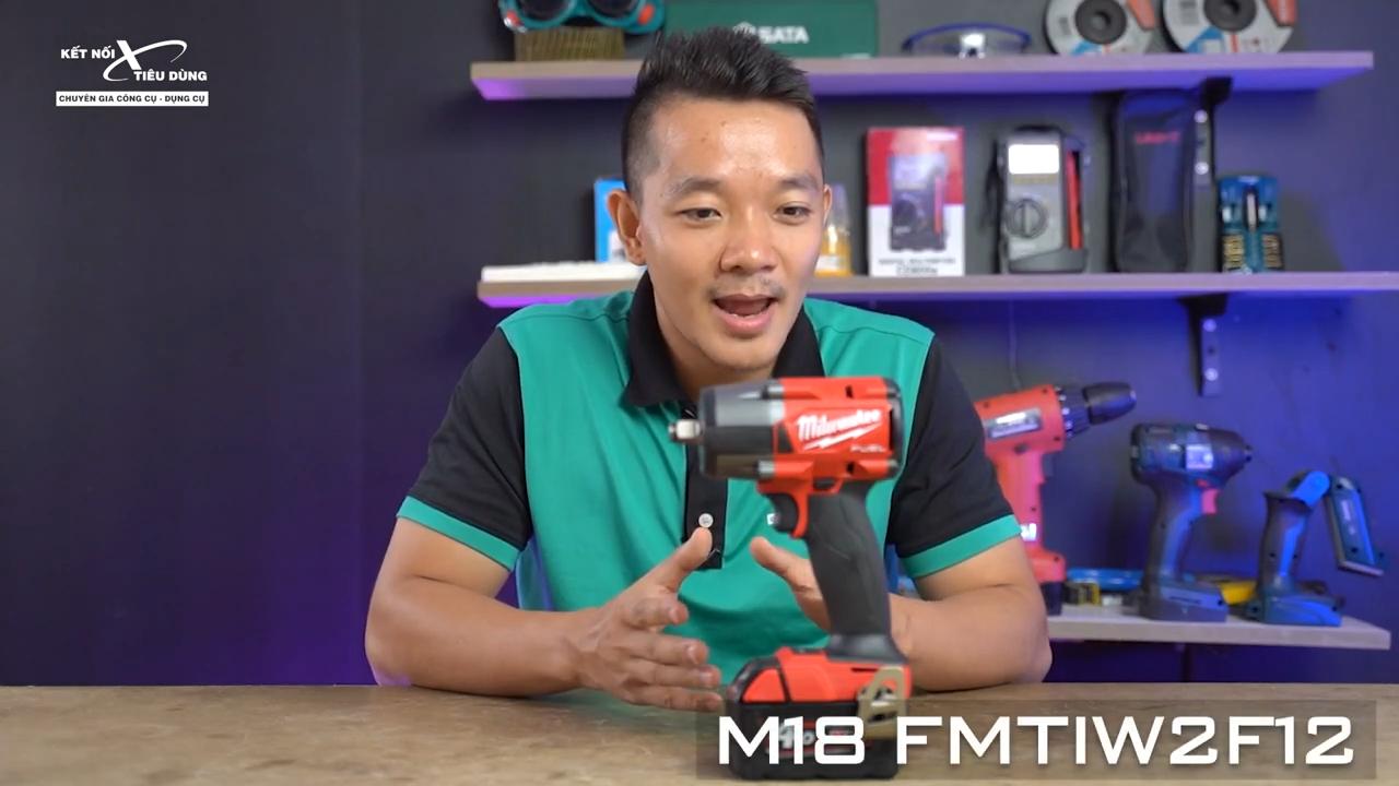 Milwaukee M18 FMTIW2F12 được cải tiến về thiết kế và công năng nhằm nâng cao trải nghiệm cho người dùng