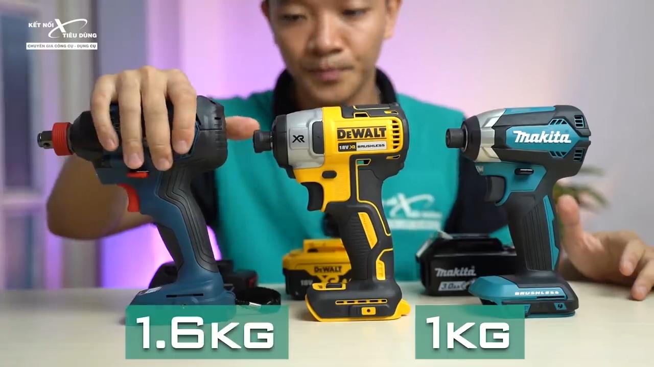 Thiết kế máy vô cùng nhỏ gọn, trọng lượng nhẹ giúp Anh Em thao tác linh hoạt trong quá trình làm việc