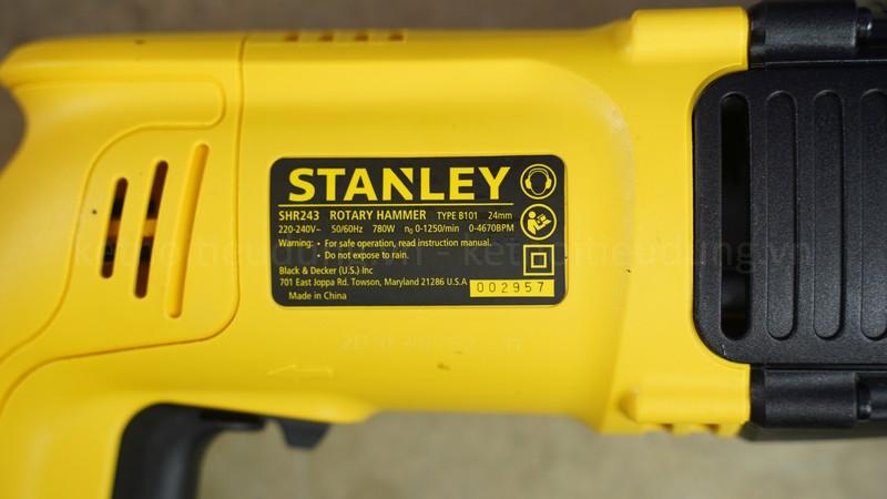 Stanley SHR243 là dòng máy khoan giá rẻ nhưng sở hữu thông số kỹ thuật ấn tượng