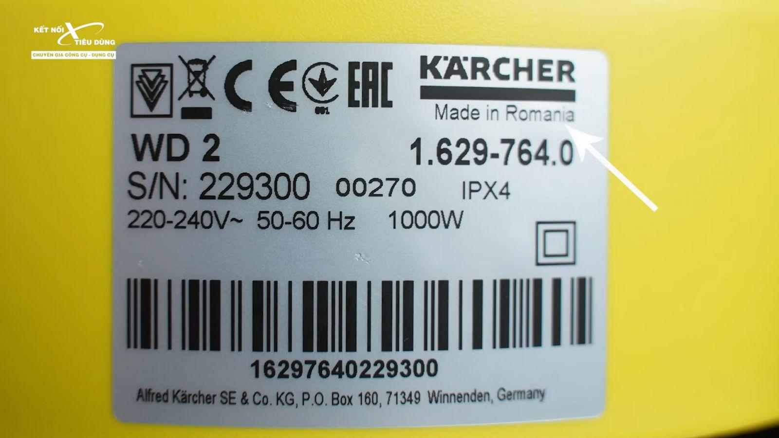 Review máy hút bụi khô và ướt cao cấp Karcher WD2 xịn sò, chuẩn công nghiệp - khả năng vận hành máy hút bụi