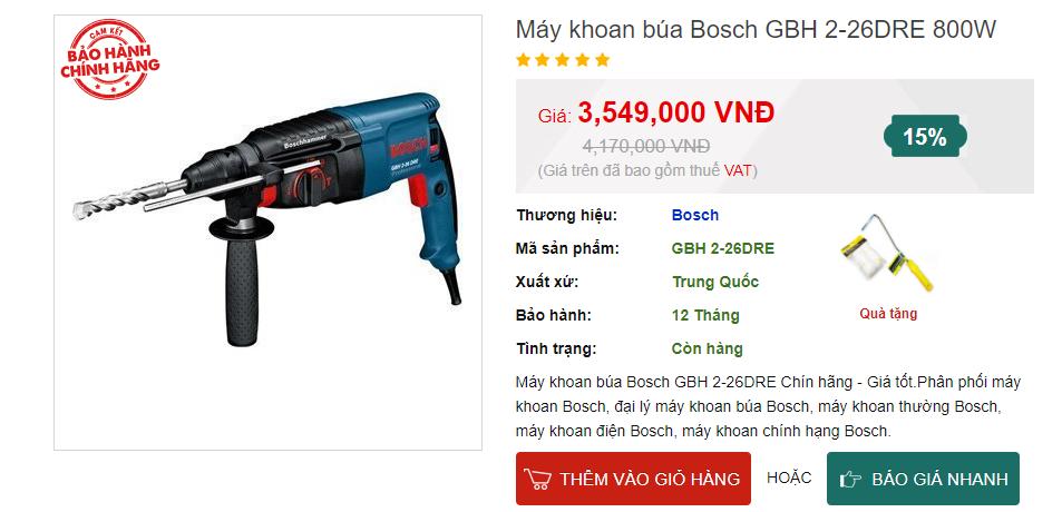 giá khoan bosch gbh 2 26dre