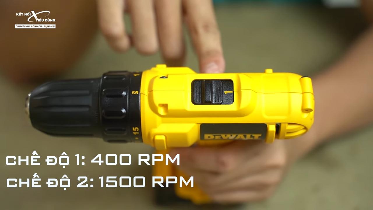 Máy khoan bắn vít pin cực rẻ của Dewalt - DCD700C1, DCD700C2 - máy có chế độ sử dụng đa năng thích hợp cho nhiều loại công việc khác nhau