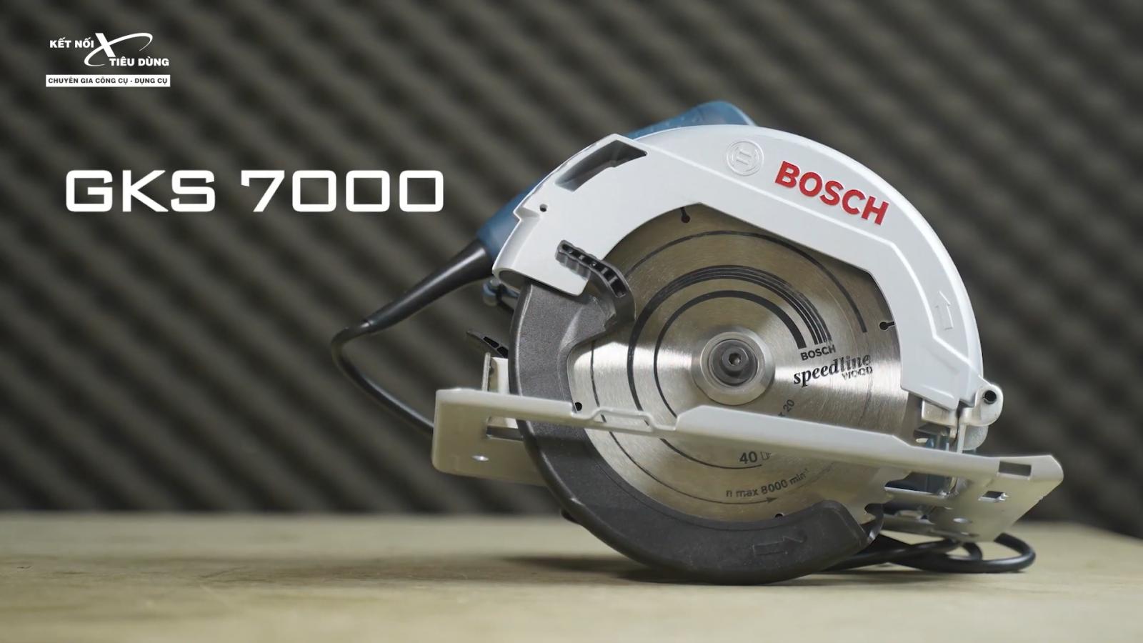 Review máy cưa đĩa rẻ nhất của Bosch - GSK 7000: chất lượng tốt, cưa êm, đường cưa mịn, độ hoàn thiện cao - thông tin chi tiết máy cưa đĩa