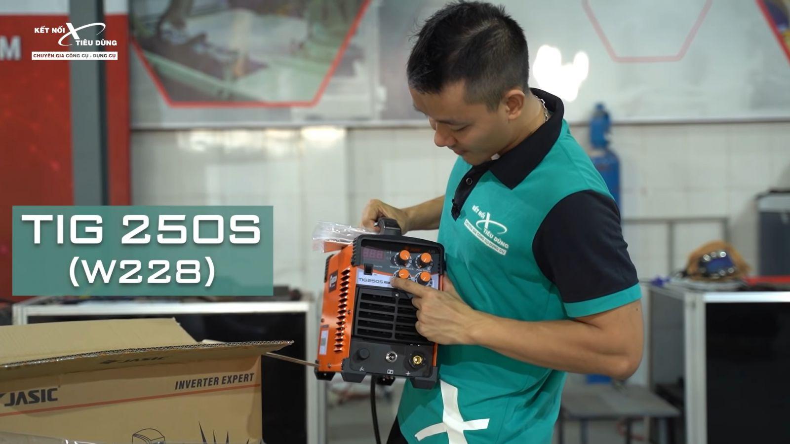 Review máy hàn Jasic TIG250S W228: nhỏ gọn, cao cấp, hàn Tig lạnh còn đẹp hơn hàn Tig thường - thông tin chi tiết máy hàn